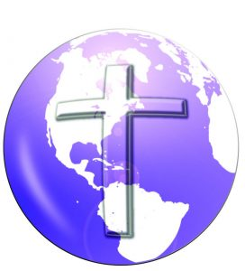 image of a purple world covered by the cross